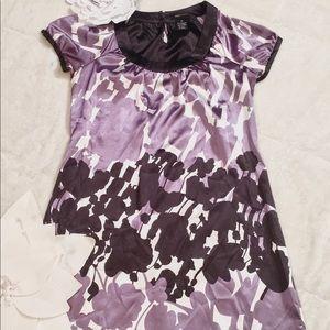 BCBG MaxAzria Shift Dress. Size XS White/Purples